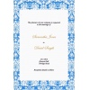 Baby Blue Damask Border Wedding Invitation
